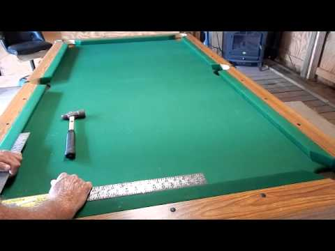 Installing Pool Table Rails - YouTube