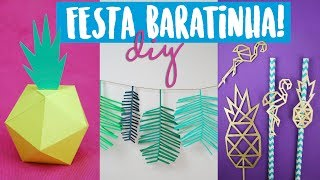 DIY PARA FESTAS: Decoração Tumblr! Abacaxi, Flamingo e +! Isabelle Verona! Feat. Richard Lopes!