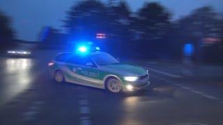 3100. Video: FuStW Polizei Würzburg zur GSG 9 - verfährt sich - quietschende Reifen - Dauerhorn