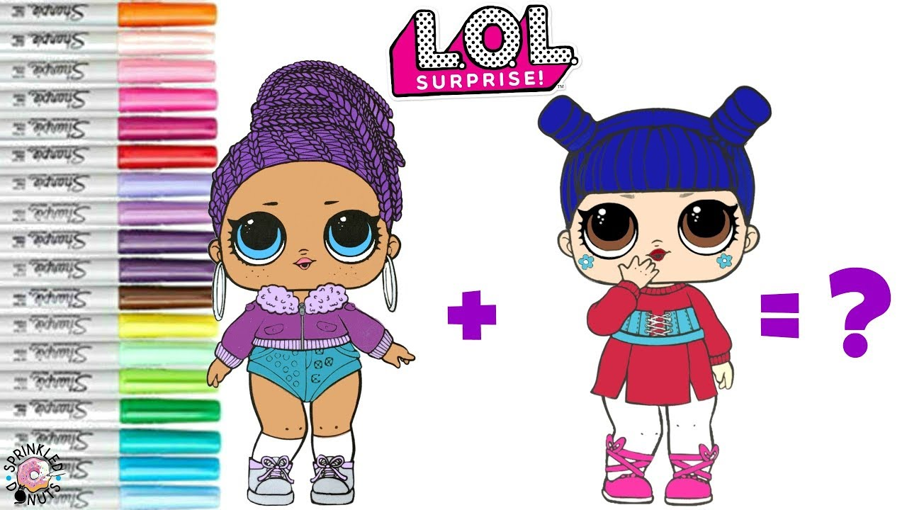 Lol surprise dolls coloring book page mash up kawaii queen and bling queen become kawaii bling