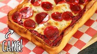 REALISTIC PIZZA CAKE! - NERDY NUMMIES