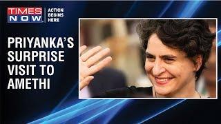 Congress' Priyanka Gandhi makes a surprise visit  for a closed-door meet in Amethi