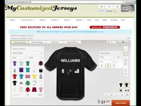 Custom Jerseys - Make Your Own Custom Jerseys Online!