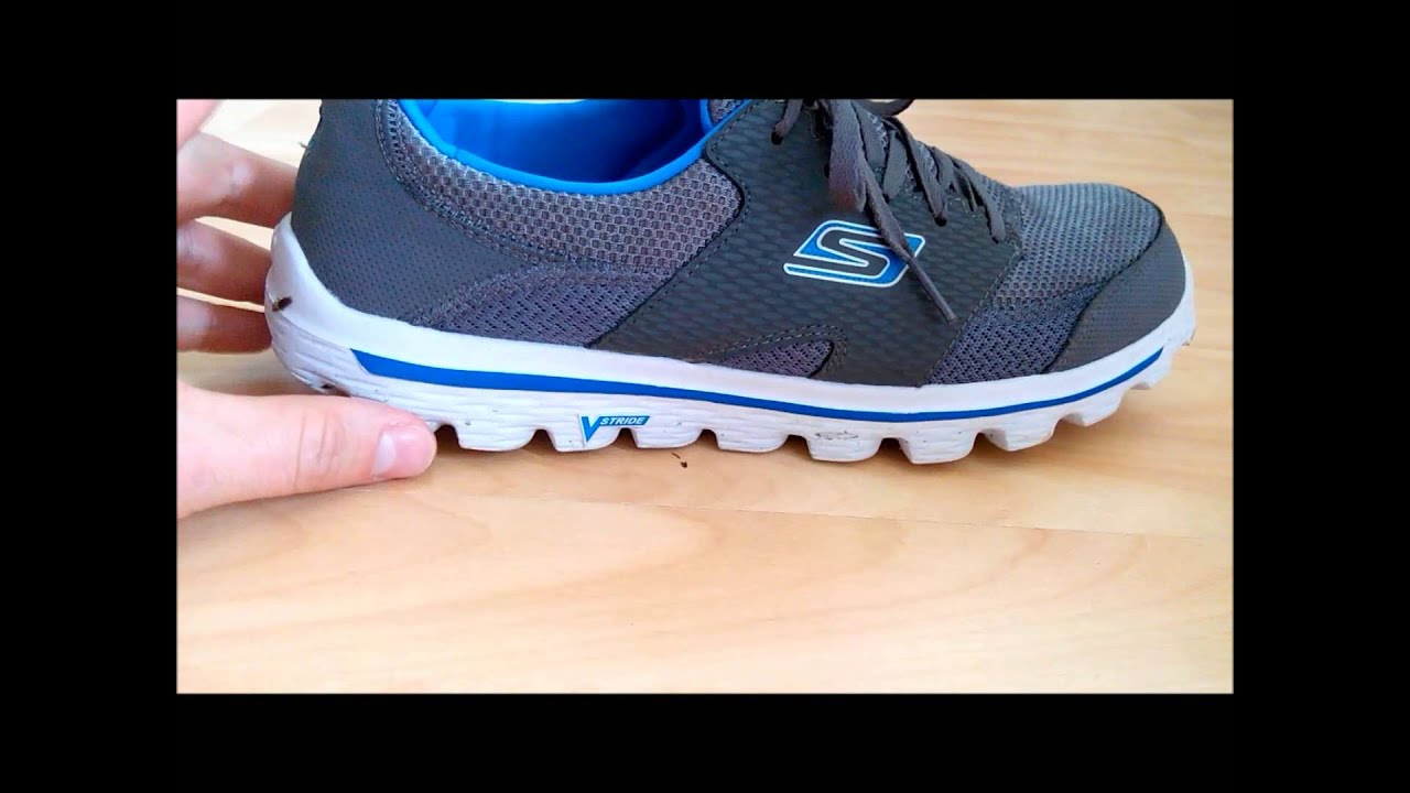 20e50ca3d2ff34 Skechers go walk 2 stance mens shoes review - YouTube