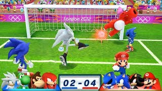 Mario & Sonic At The London 2012 Olympic Games Football #72 Team Metal Sonic, Sonic, Shadow, Mario