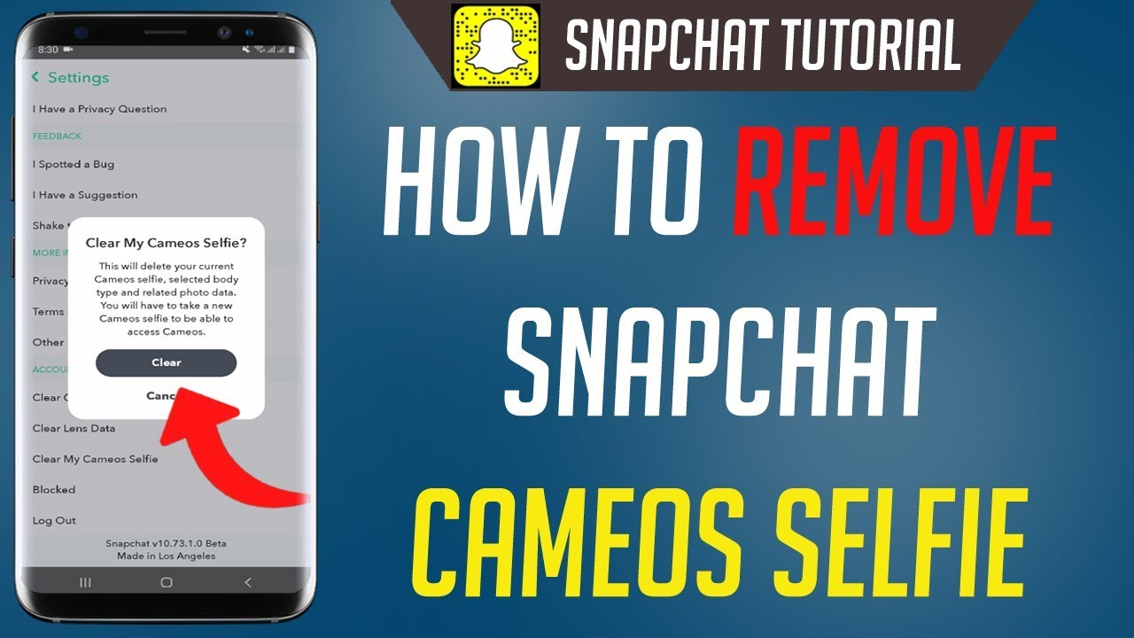 How To Remove Snapchat Cameos Selfie