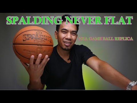 Spalding Never Flat NBA GAME BALL Replica