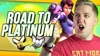 "Overwatch Competitive: Road To Platinum #3 ""D.VAstating Plays!!"