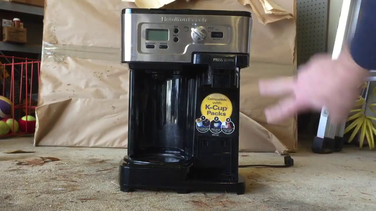Cleaning Clogged Hamilton Beach Flexbrew Keurig Coffee Maker Youtube