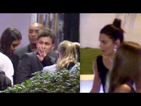 EXCLUSIVE : Kendall Jenner, ASAP Rocky, Kourtney Kardashian and Younes Benjima arrive at Gotha Club
