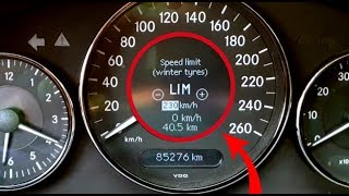 How to Remove Speed Limit on Mercedes W211, W219 / Mercedes W211, CLS speed limiter