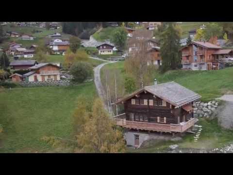 Les chalets d'Emile, version Automne, La Tzoumaz, 4 Vallées, Suisse, Drone