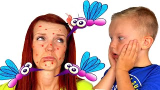 Martin and Monica vs Mosquitoes in our house Funny stories for kids