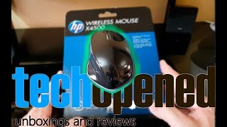 HP X4500 Wireless mouse unboxing
