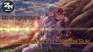 Gambar cover  ZN nightcore Kana nishino - Kimiga suki