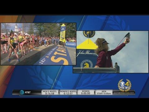 2017 Boston Marathon Elite Women Start