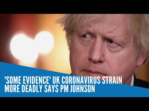 'Some evidence' UK coronavirus strain more deadly says PM Johnson
