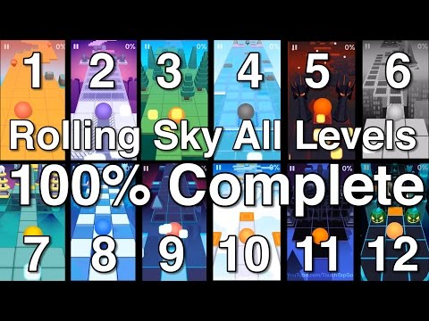 Rolling Sky All Levels 100% Complete All Gems