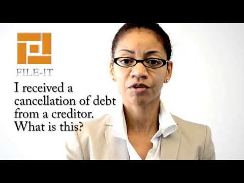 I received a cancellation of debt from a creditor.  What is this? File-It Inc. Houston Tax Tips