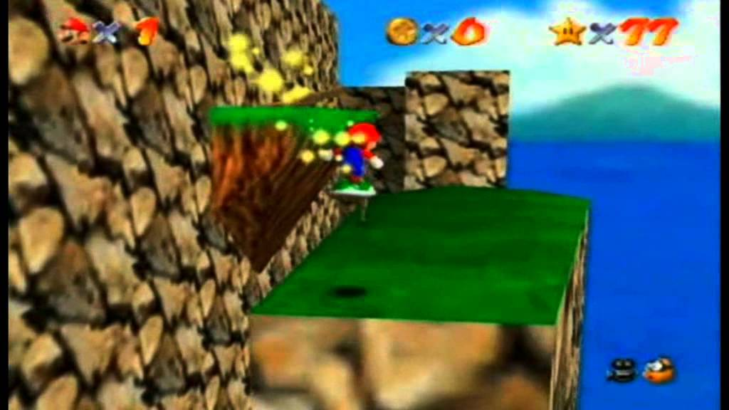 Super Mario 64 7 Pillar Challenges: Mointaineer Shell Surfing