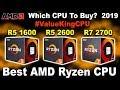 🔥 Best AMD Ryzen 2nd Gen CPU 🔥 R5 1600 vs R5 2600 vs R5 2600X vs R7 2700 vs R7 2700X | AMD CPU 2019