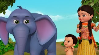 Hathi Raja - The Elephant Song   Bengali Rhymes for Children   Infobells