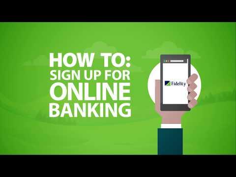 New User Registration on Fidelity Online Banking