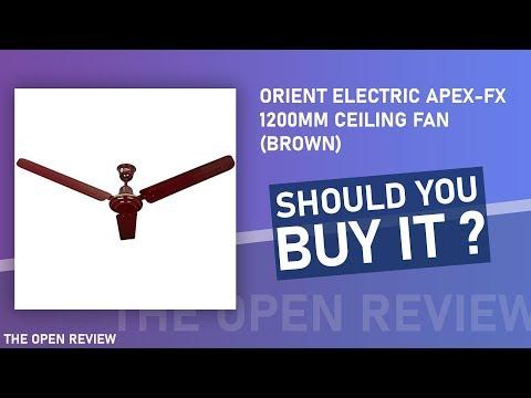 Orient Electric Apex-FX 1200mm Ceiling Fan (Brown)