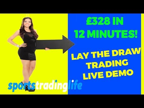 How To Lay The Draw And WIN! £328 Profit In 12 Minutes! [Betfair Football Trading]
