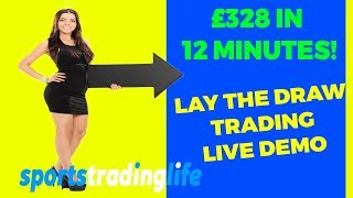 How To Lay The Draw And Win! £328 Profit In 12 Minutes!  Betfair Football Tradin