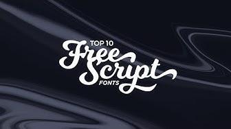 Top 10 Best FREE Script Fonts