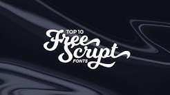 Top 10 Best FREE Script Fonts