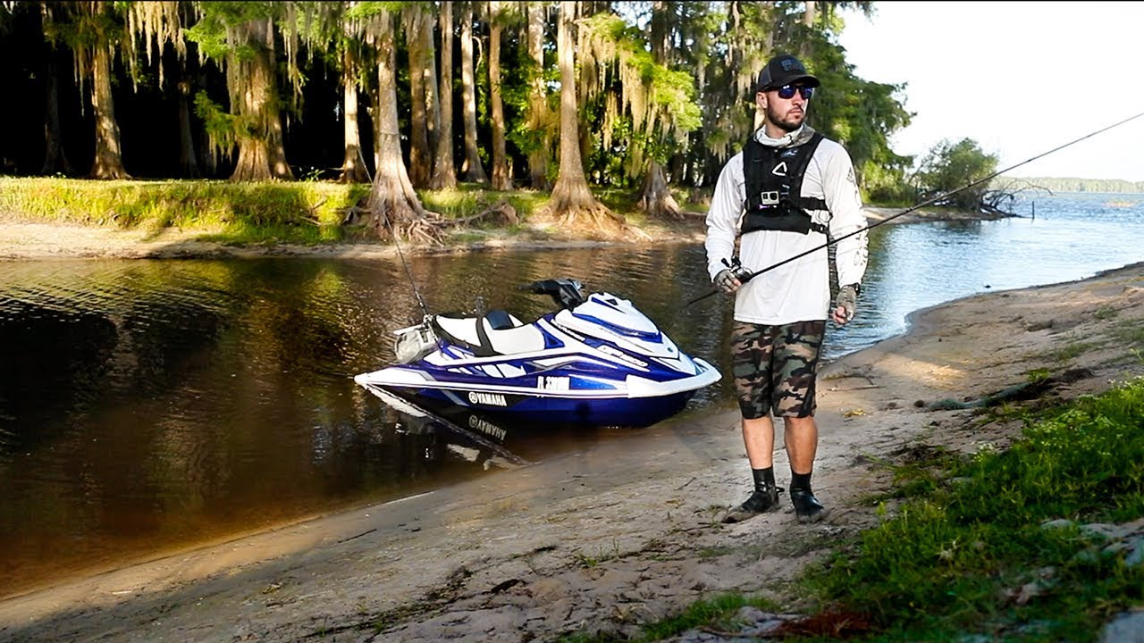 bass-fishing-in-drained-swamp-on-supercharged-jetski-black-water