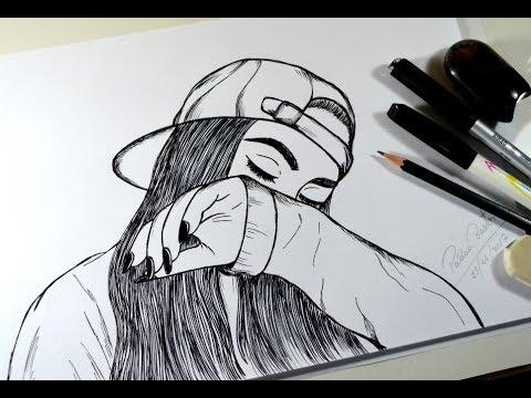 Como Desenhar Garota Tumblr How To Draw Girl Tumblr Youtube
