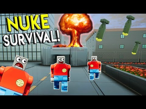 LEGO NUKE BUNKER SURVIVAL CHALLENGE! - Brick Rigs Multiplayer & Gameplay Challenge - Lego City Toy