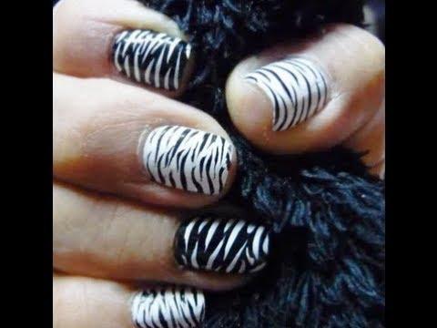 Tutorial decoracion u as facil animal print cebra youtube for Decoracion cebra