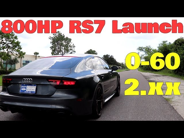 Driving and LAUNCHING my 800HP Audi RS7 For the First Time! It Sounds Incredible!