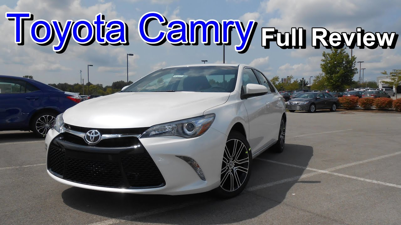 2016 Toyota Camry Se Special Edition Full Review