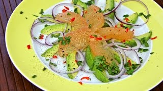 Simple Avocado Grapefruit Salad Recipe - Chris De La Rosa