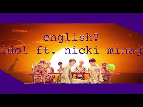 "how much English was in BTS's ""Idol ft. Nicki Minaj"" 