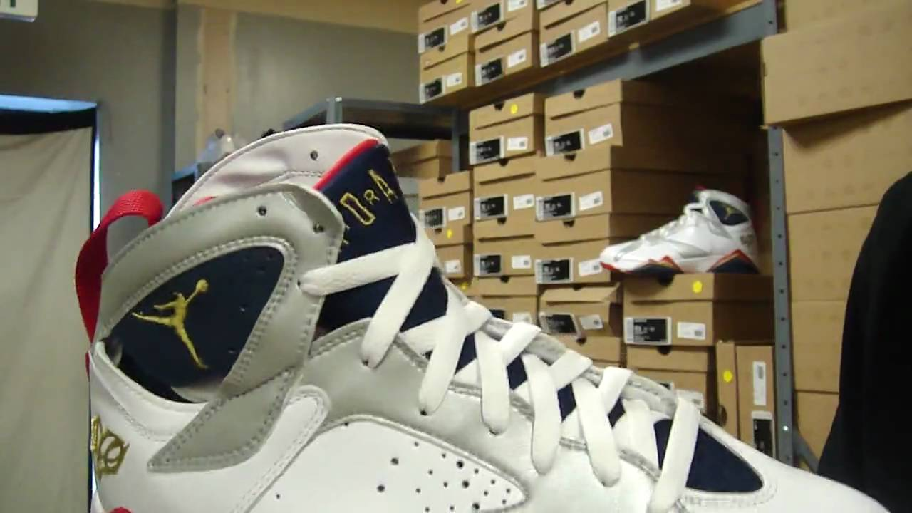 ffab399270aa73 Review  Air Jordan 7 - Olympics (Love of the Game) - YouTube