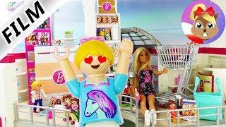 Playmobil Film polski: HANIA W SKLEPIE Z LALKAMI BARBIE! BARBIE-SHOP W CENTRUM HANDLOWYM |Wróblewscy