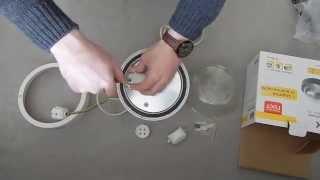 Обзор светильника НПП2602А белый/круг пластик 60Вт IP54 ИЭК
