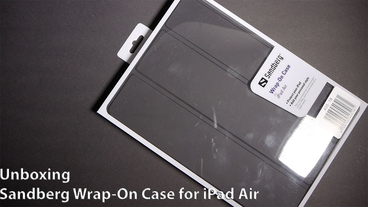 Unboxing Review Sandberg Wrap On Cover Stand For IPad Air