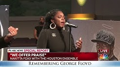 Nakitta Foxx sings at George Floyd's funeral service