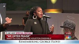 Nakitta Foxx sings at George Floyd's funeral service