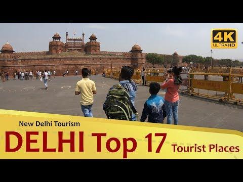 """DELHI"" Top 17 Tourist Places 4K New Delhi Tourism"