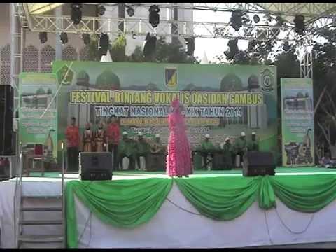 LASQI - JUARA 1 ANAK2 PUTRI FESTIVAL BINTANG VOKALIS QASIDAH GAMBUS NASIONAL XIX 2014 PALU SULTENG