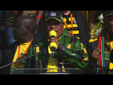 President Zuma has addressed the ANC's final election rally at Ellis Park Stadium