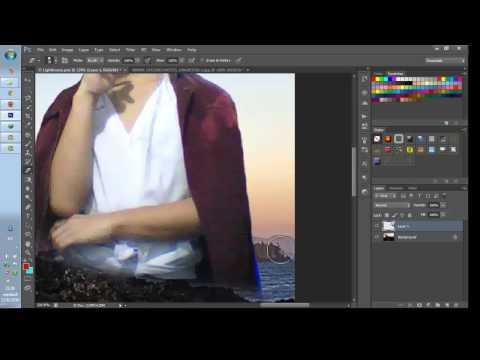 การทำภาพโปร่งแสง Photoshop Cs6
